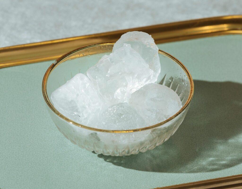 Schale Eiswürfel