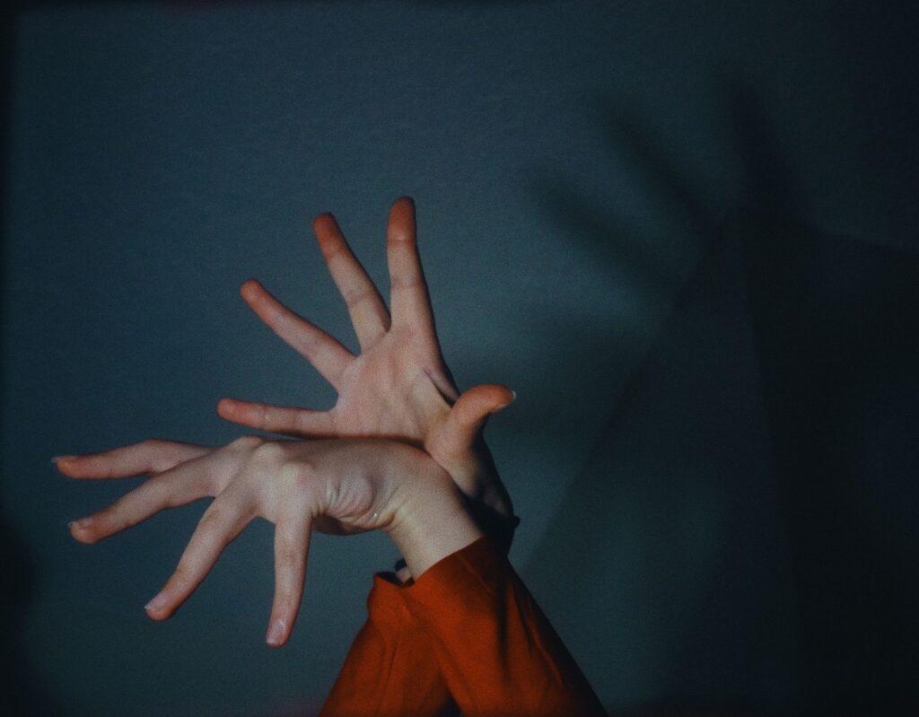 Frau Hände