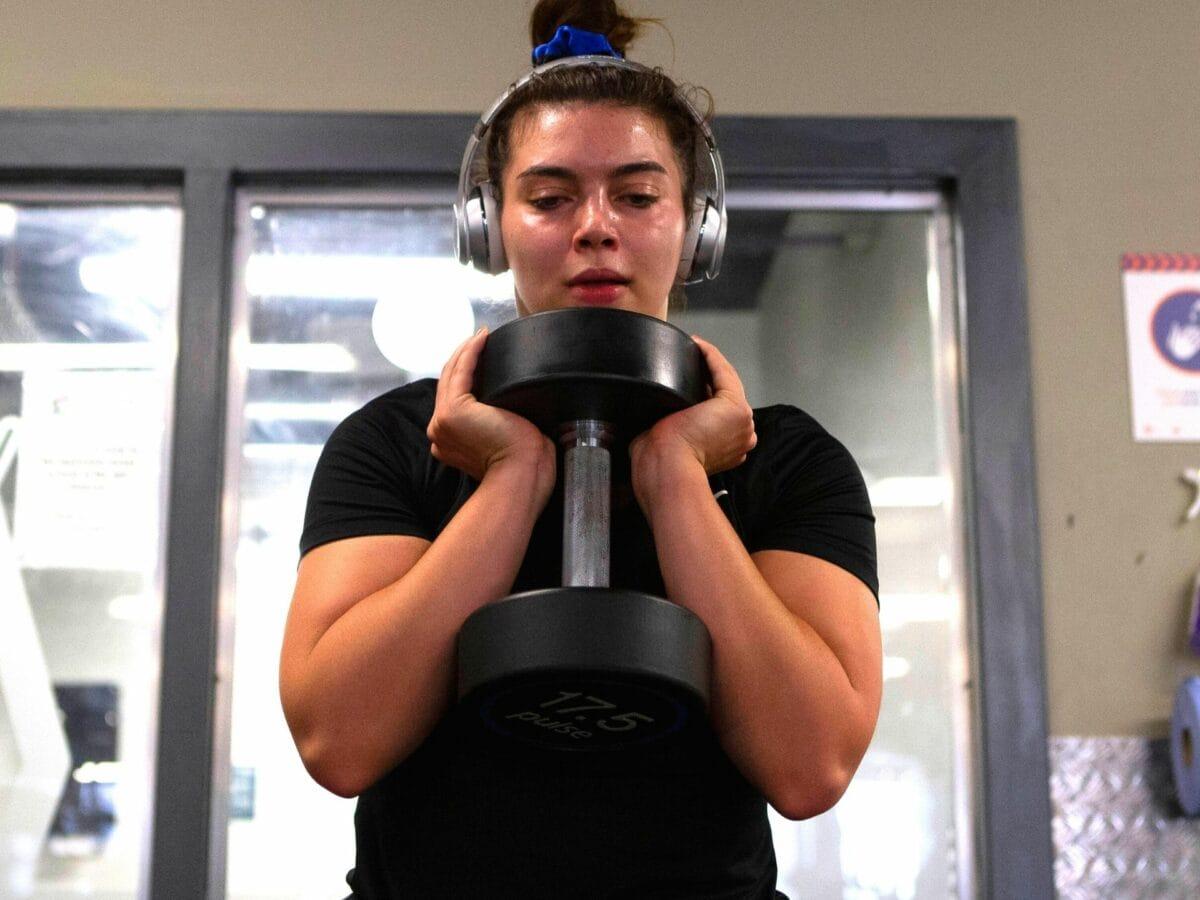 schwitzen sport frau gewicht