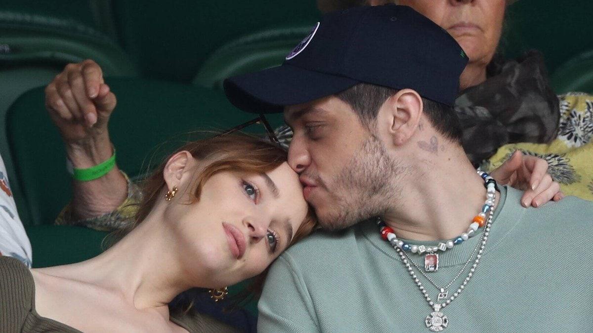 Pete Davidson und Phoebe Dynevor in Wimbledon.. © imago/i Images