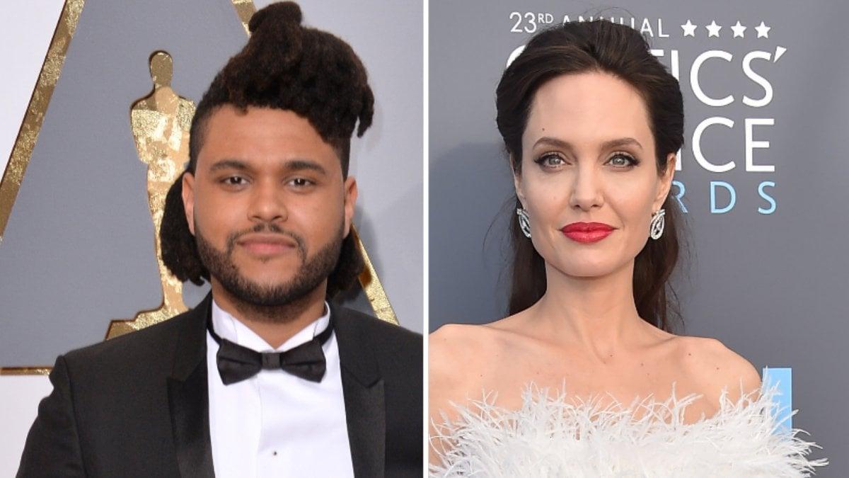 The Weeknd und Angelina Jolie sollen ein weiteres Date gehabt haben.. © Featureflash Photo Agency/Shutterstock.com / DFree/Shutterstock.com