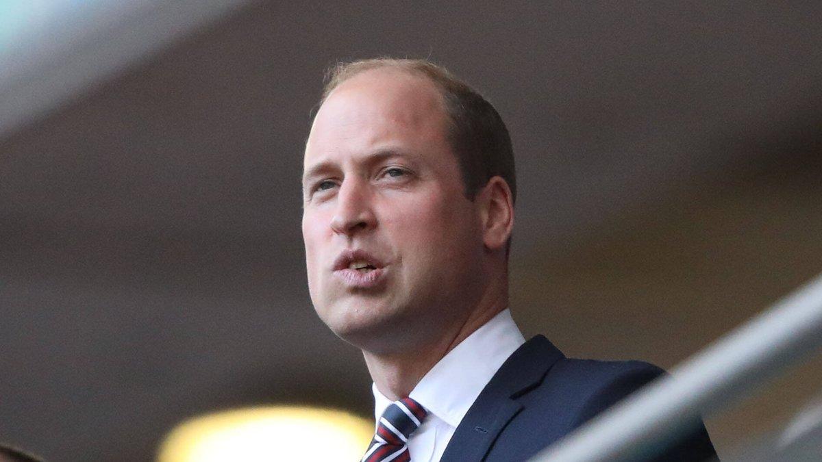Angespannt verfolgte Prinz William die Partie England gegen Dänemark im Wembley-Stadion.. © imago images/Paul Marriott