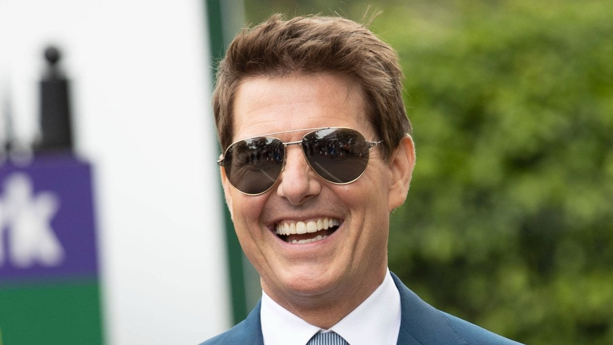Tom Cruise am gestrigen Sonntag beim Wimbledon-Finale.. © imago/i Images