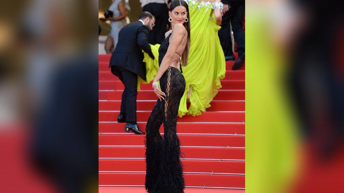 Izabel Goulart legte in Cannes einen sexy Auftritt hin.. © imago/PA Images