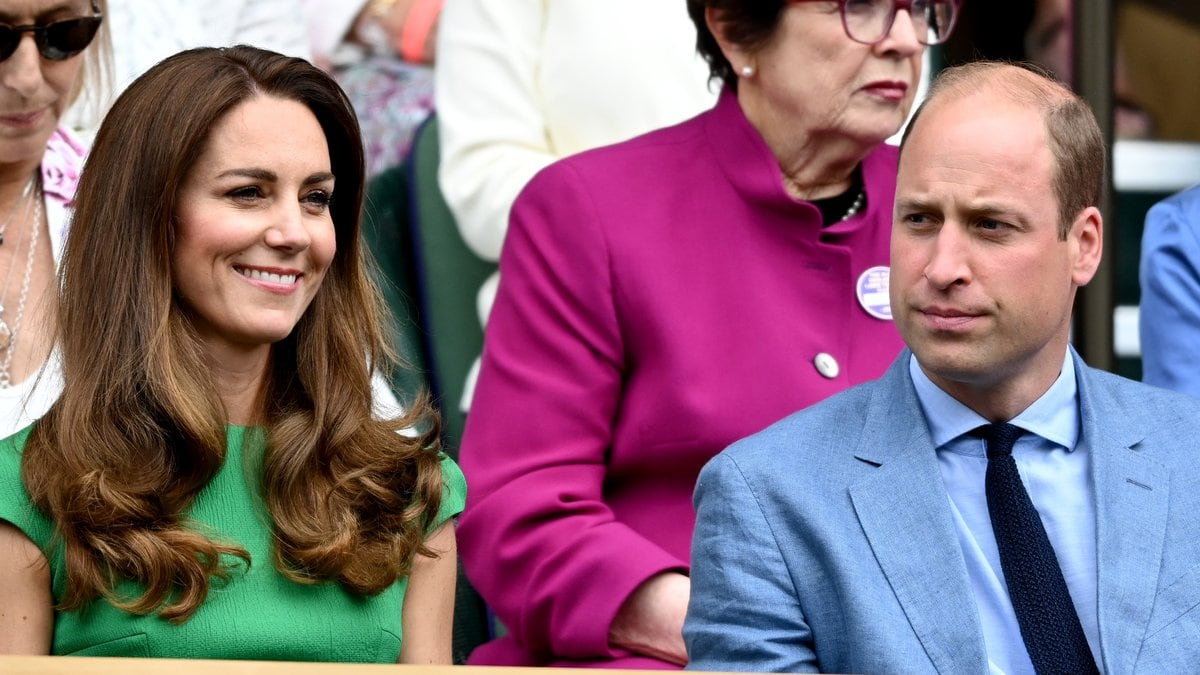 Herzogin Kate und Prinz William auf der Tribüne von Wimbledon.. © getty/Karwai Tang / WireImage