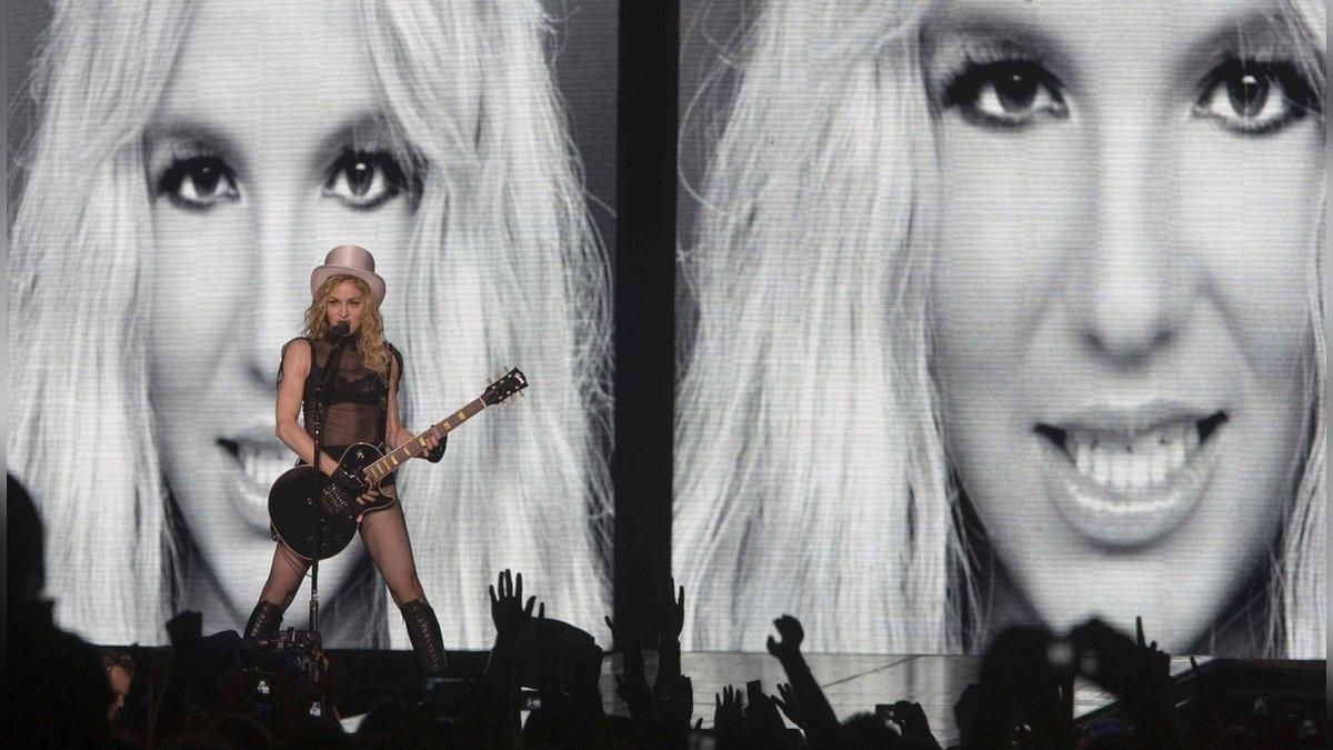 Madonna bei einem Auftritt ihrer
