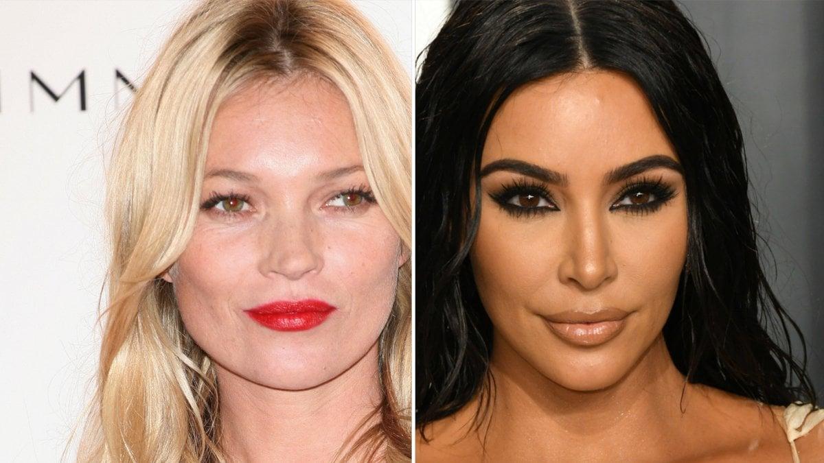 Kate Moss (l.) macht für Kim Kardashians Unterwäsche-Label Werbung.. © Birdie Thompson/AdMedia/ImageCollect / Featureflash Photo Agency/Shutterstock.com [M]