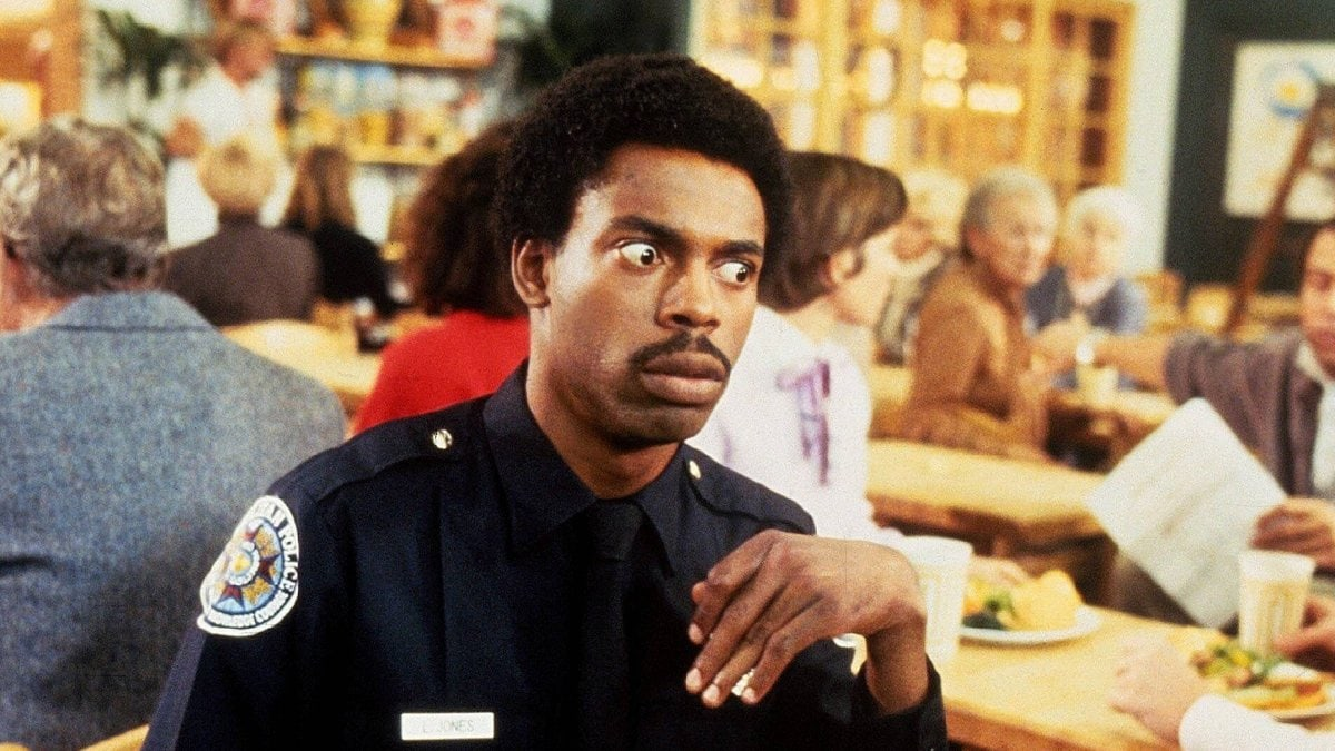 """Michael Winslow in """"Police Academy 2"""".. © imago images/Mary Evans"""