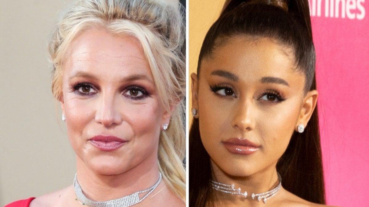 Britney Spears (li.) erhält unter anderem Unterstützung von Ariana Grande.. © Xavier Collin/Image Press Agency/ImageCollect / lev radin/Shutterstock.com [M]