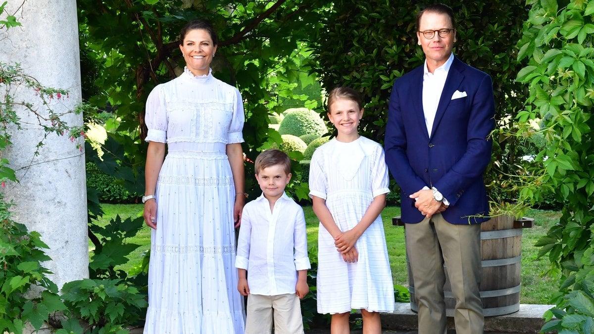 Victoria von Schweden mit ihrer Familie. © imago images/TT