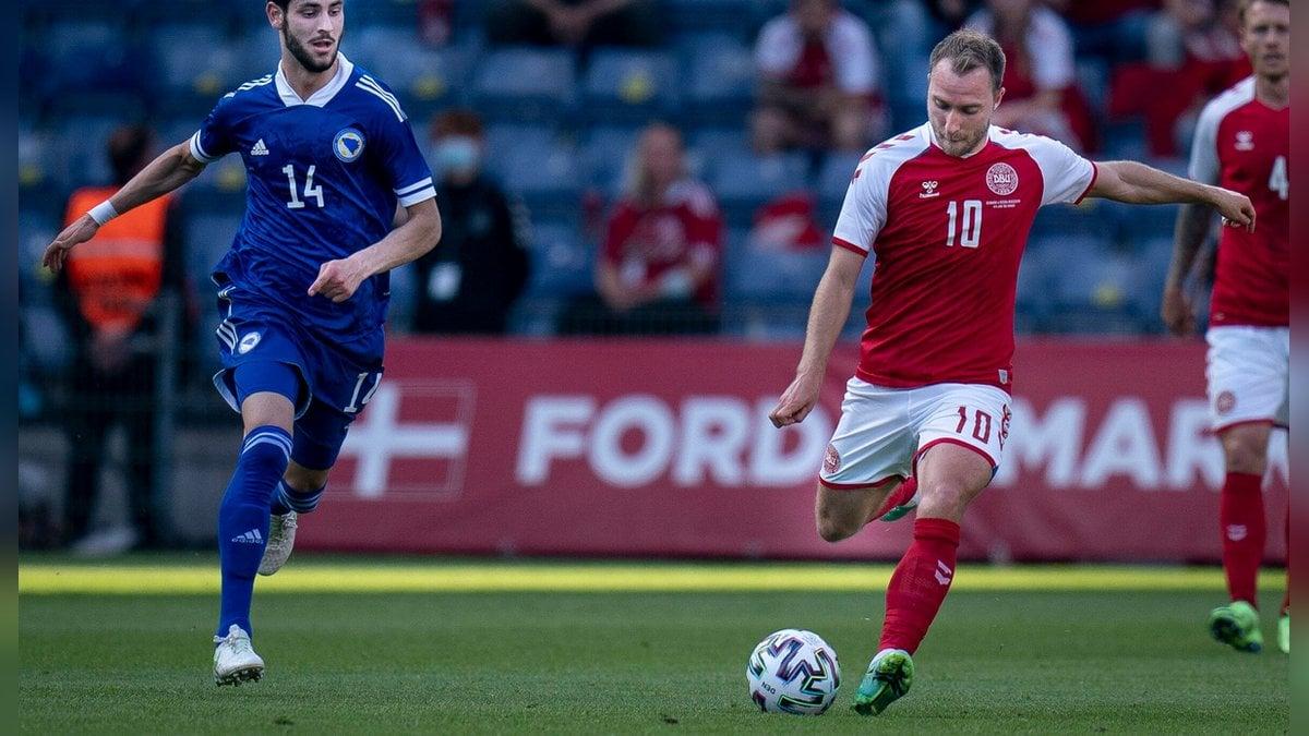 Wird wohl vorerst nicht mehr in Italien spielen können: Inter-Mailand-Profi Christian Eriksen hier im Trikot der dänischen Nationalmannschaft.. © imago/Ritzau Scanpix