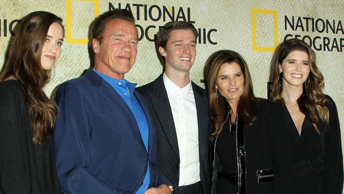 Die Schwarzenegger-Familie bei einem Auftritt auf dem roten Teppich. © AdMedia/ImageCollect
