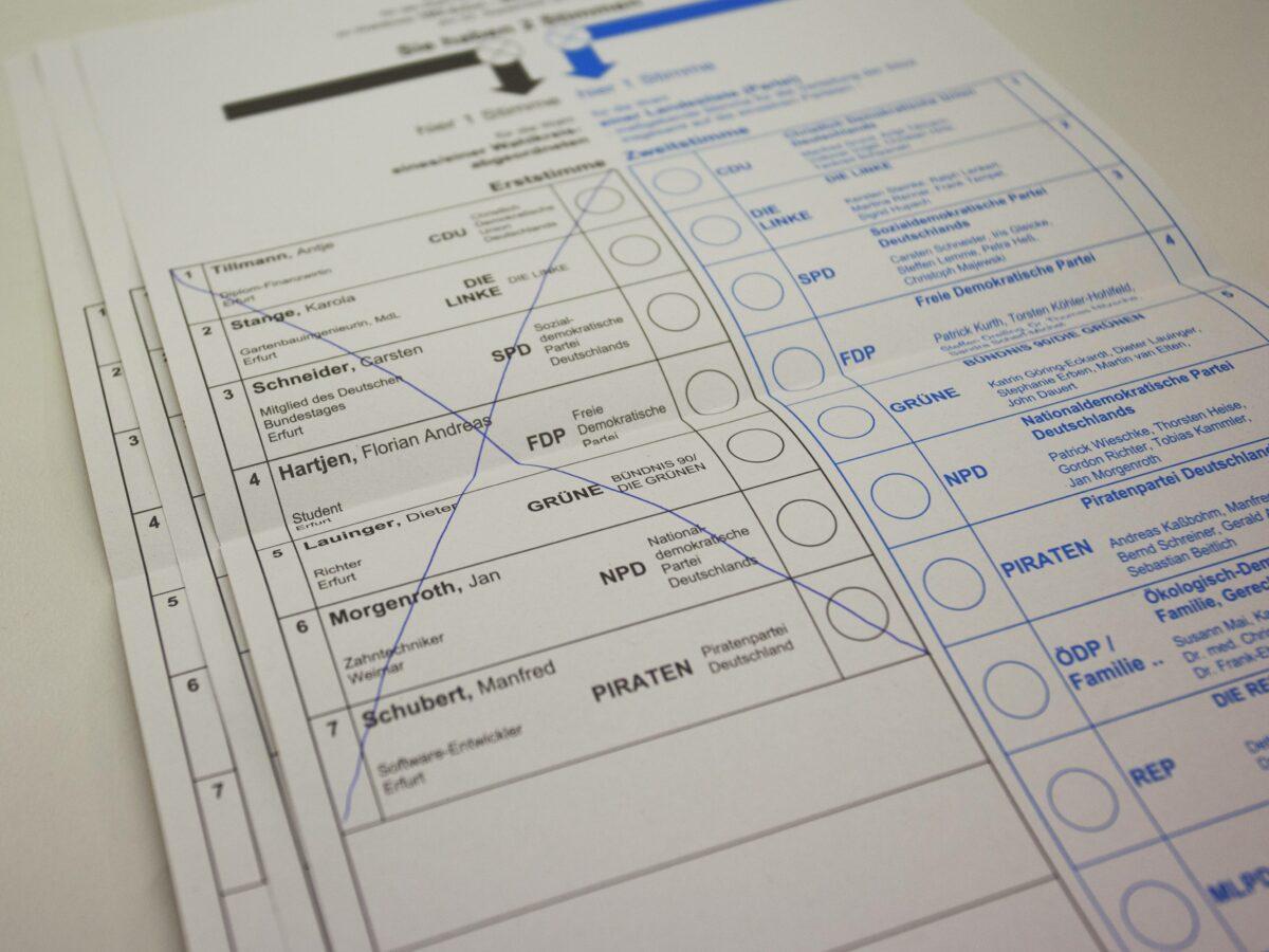 stimmzettel wahlzettel wahlen bundestagswahl