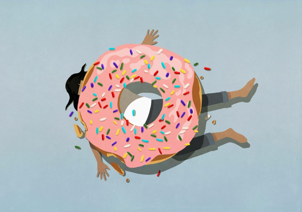 Illustration emotionales Essen