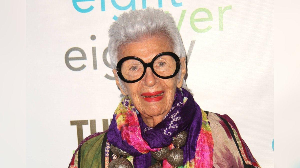 Die New Yorker Social-Media- und Lifestyle-Ikone Iris Apfel feiert 100. Geburtstag.. © imago/ZUMA Wire