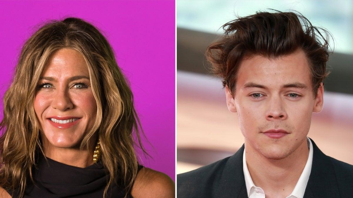 Jennifer Aniston und Harry Styles scheinen sich einen Kleiderschrank zu teilen.. © Ron Adar/Shutterstock.com / Cubankite/Shutterstock.com