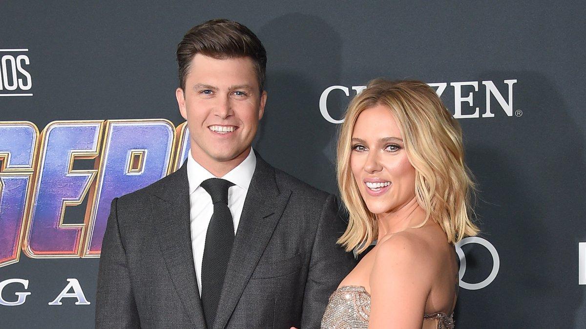 Colin Jost und Scarlett Johansson haben 2020 geheiratet.. © DFree/Shutterstock.com