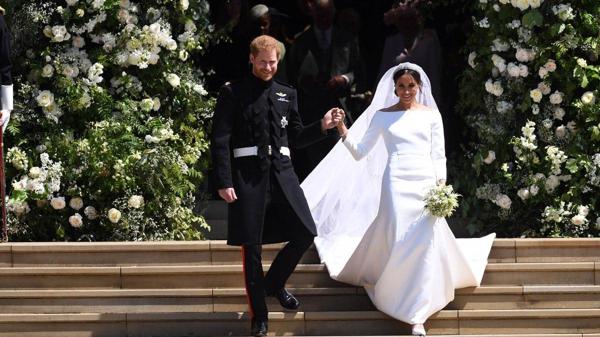 Prinz Harry und Herzogin Meghan bei ihrer Hochzeit 2018.. © imago/UPI Photo