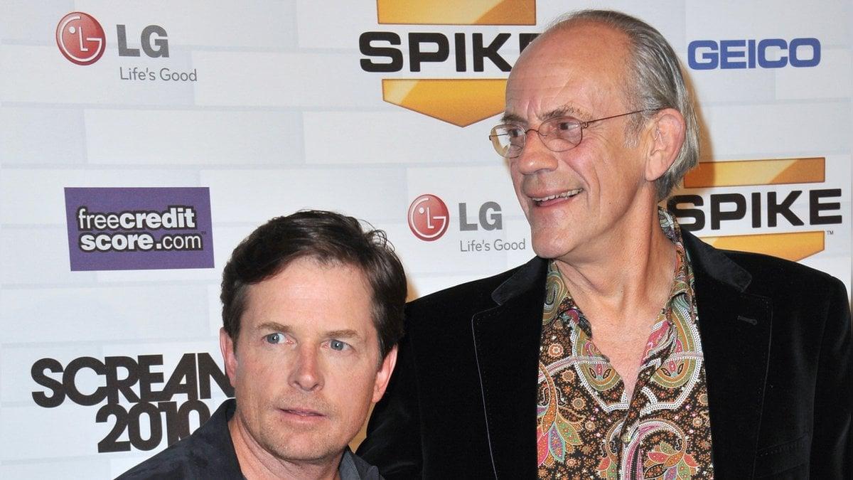 Michael J. Fox (l.) und Christopher Lloyd spielten Marty McFly und