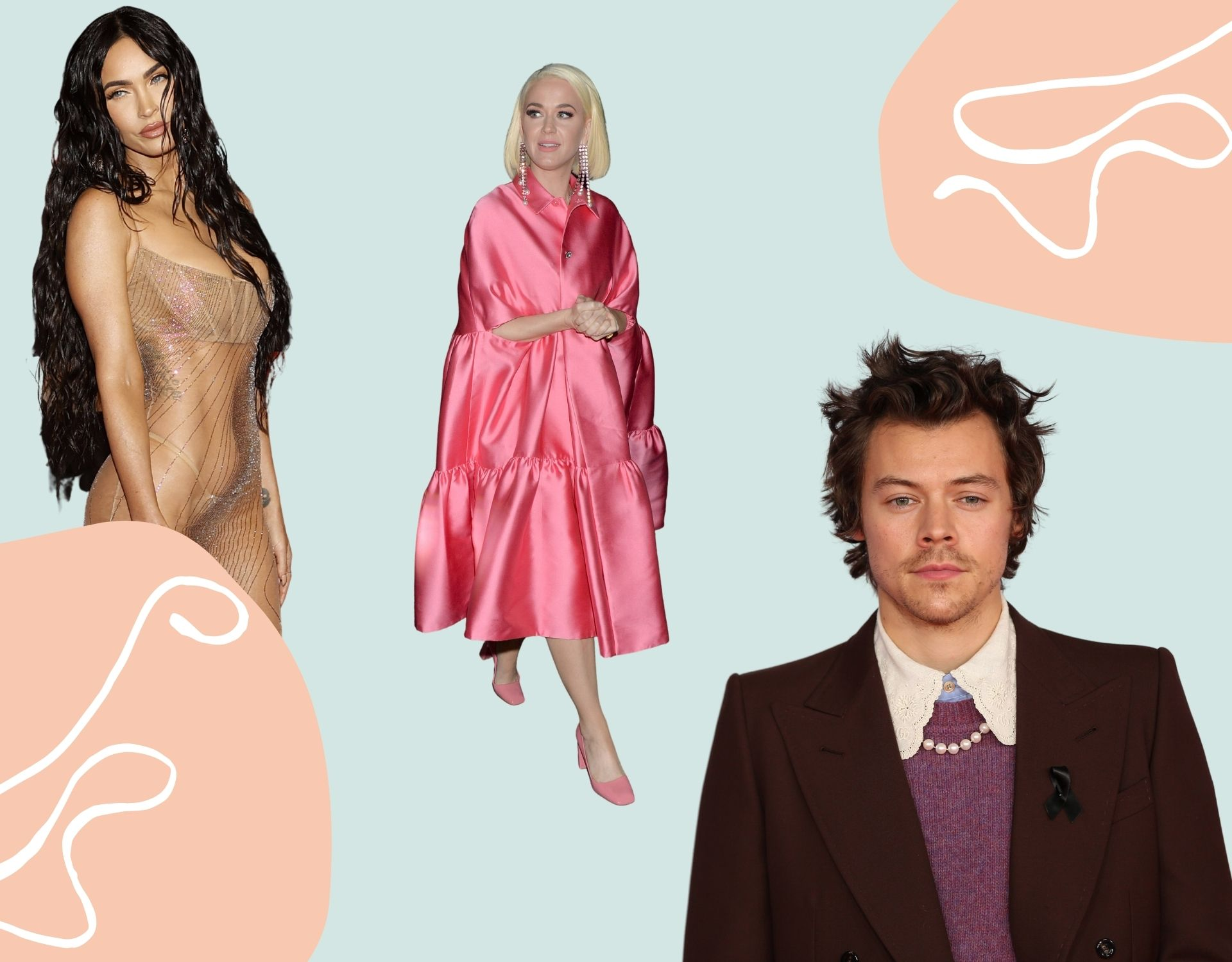 Harry Styles, Katy Perry, Megan Fox
