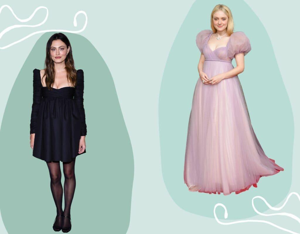 Collage Kleider für kleine Frauen