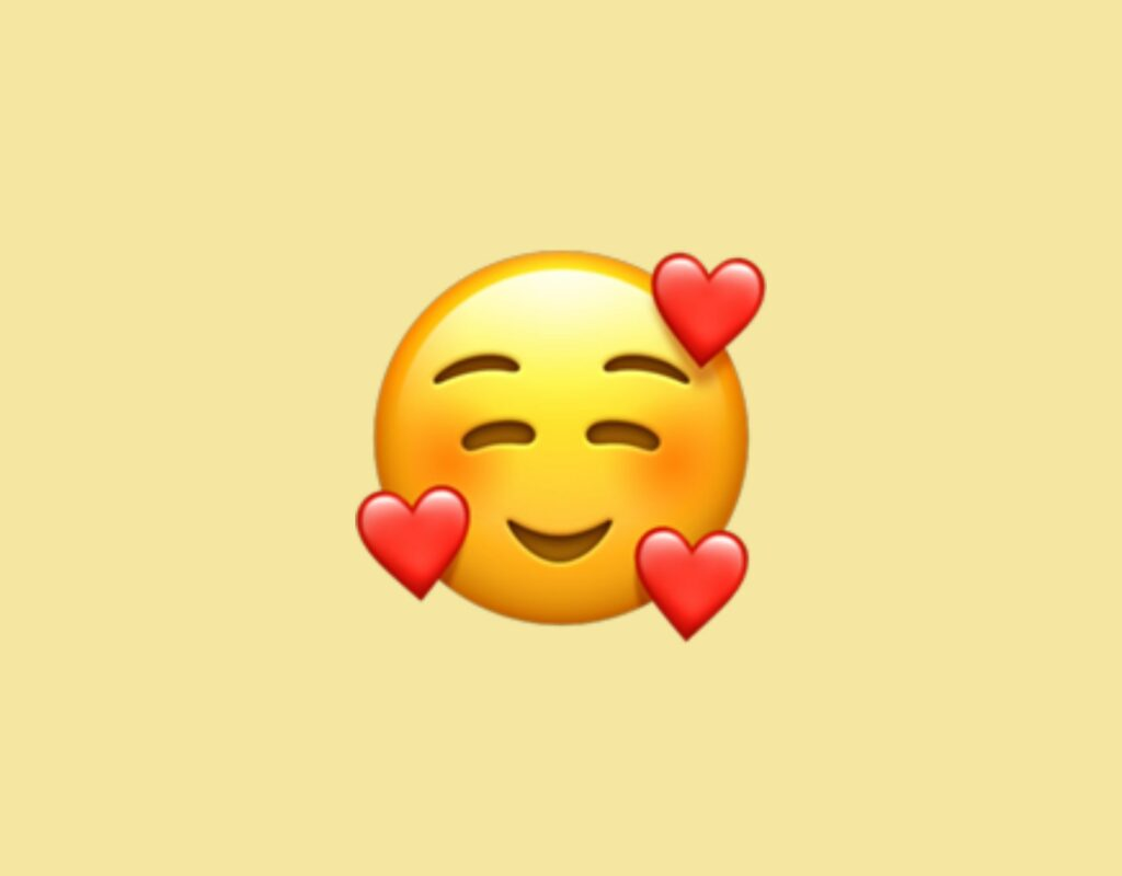 Smiley mit Herzen