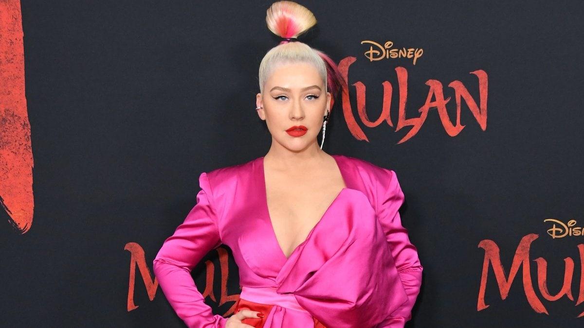 US-Sängerin Christina Aguilera geizt nicht mit ihren Reizen.. © Birdie Thompson/AdMedia/ImageCollect