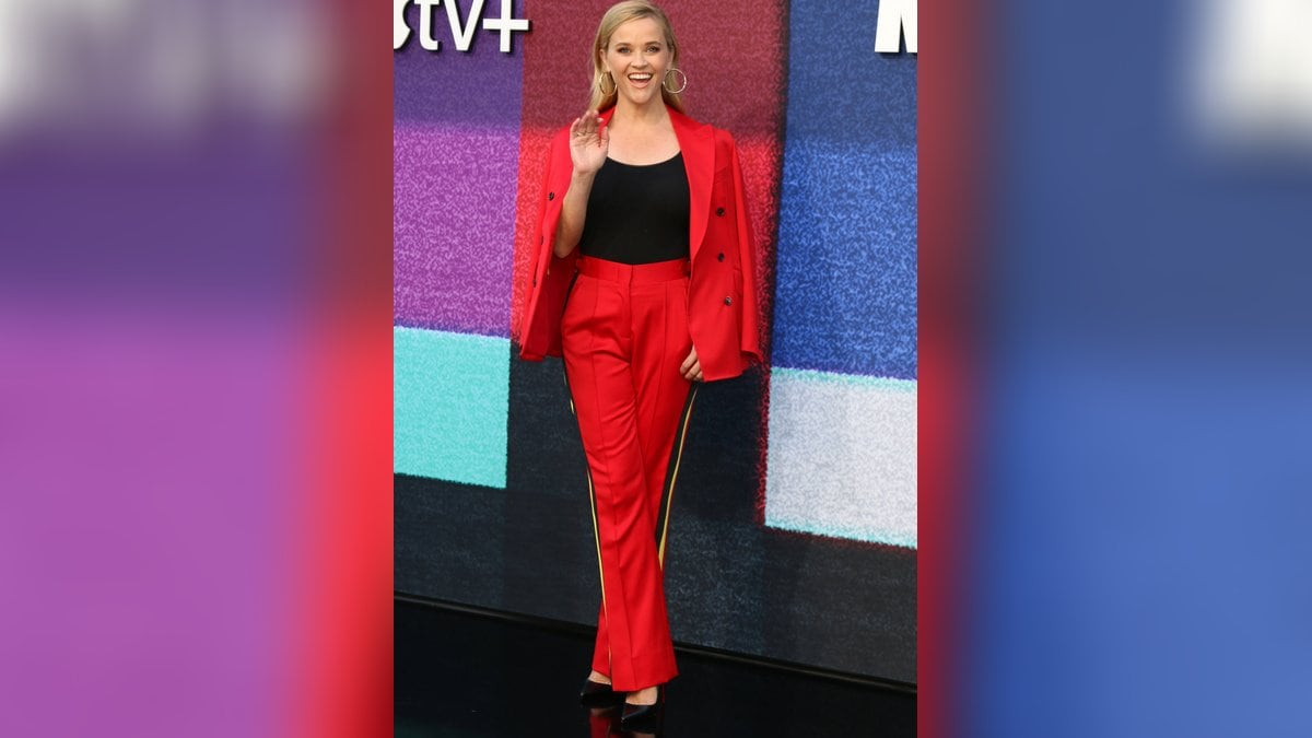 Reese Witherspoon strahlte in Rot.. © imago images/ZUMA Wire
