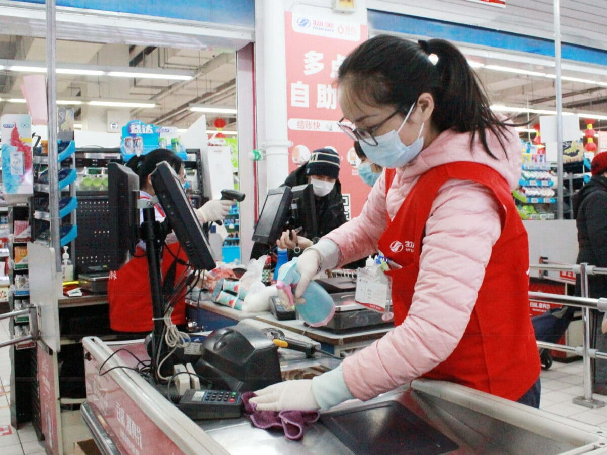 supermarkt china corona