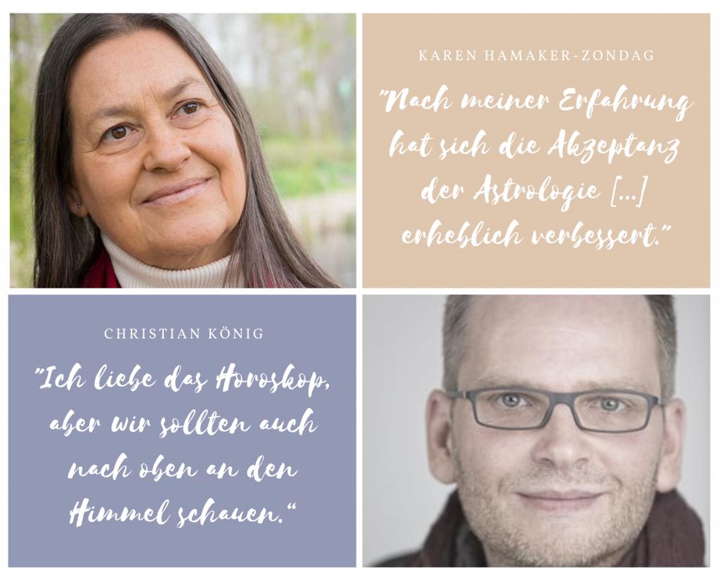 Karen Hamaker-Zondag und Christian König beim Kongress des Deutschen Astrologen-Verbandes 2021