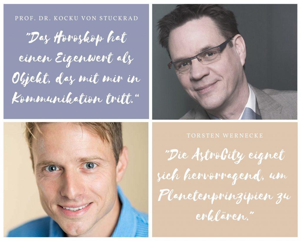 Torsten Wernecke und Prof. Dr. Kocku von Sturckrad sprachen beim Kongress des Deutschen Astrologen-Verbandes 2021.