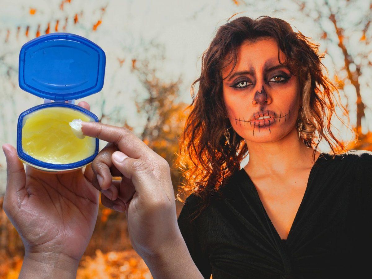 halloween make up vaseline